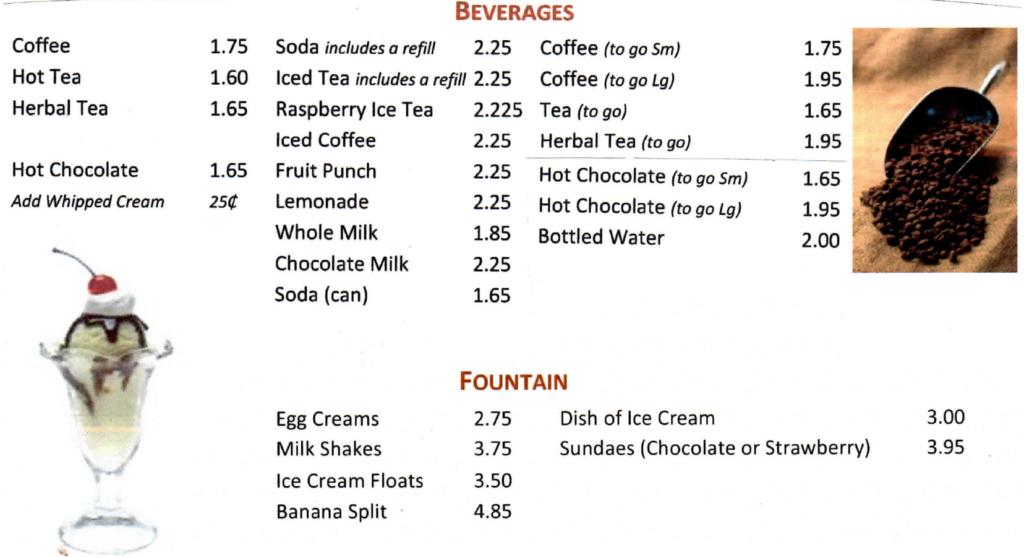 beverages-at-port-ewen-diner