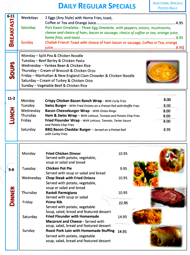 port-ewen-diner-daily-specials-menu