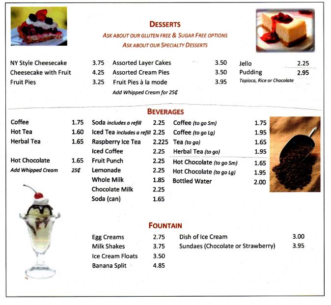port-ewen-diner-desserts-menu-2019
