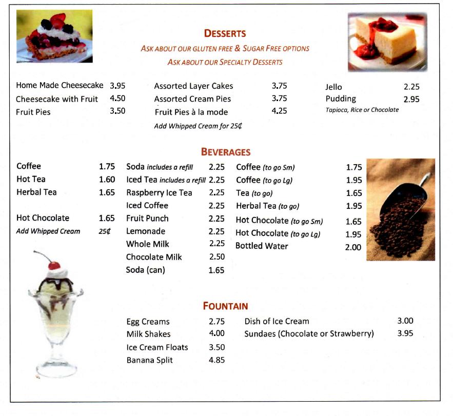 Port Ewen Diner Desserts